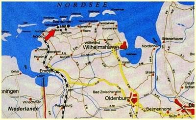 neßmersiel karte Haus am Deich   Ostfriesland Neßmersiel